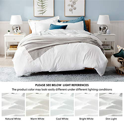 Bedsure White Washed Duvet Cover Set Twin Size With Zipper ClosureUltra Soft Hypoallergenic Comforter Cover Sets 2 Pieces 1 Duvet Cover 1 Pillow Sham 68X90 Inches 0 4