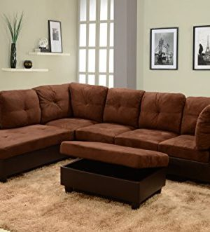 Beverly Fine Furniture Sectional Sofa Set Chocolate Brown 0 300x331