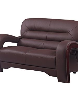 Blackjack Furniture 992 Charles Collection Leather Match Upholstered Modern Living Room Chair Loveseat Sofa Brown 0 0 300x353