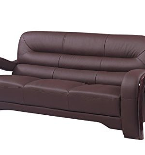 Blackjack Furniture 992 Charles Collection Leather Match Upholstered Modern Living Room Chair Loveseat Sofa Brown 0 1 300x320