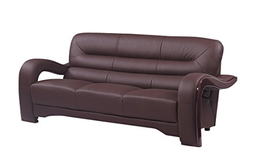 Blackjack Furniture 992 Charles Collection Leather Match Upholstered Modern Living Room Chair Loveseat Sofa Brown 0 1