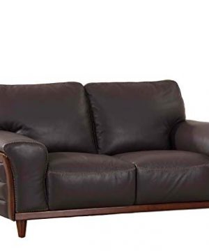 Blackjack Furniture Montgomery Collection Top Grain Italian Leather Living Room Sofa Loveseat Brown 0 300x360