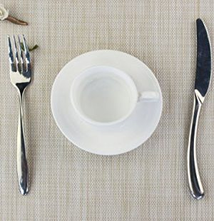 Bright Dream Placemats For Dinner Table Mats Washable Heat Resistand PVC Hard Placemats Set Of 4Gray 0 0 300x310