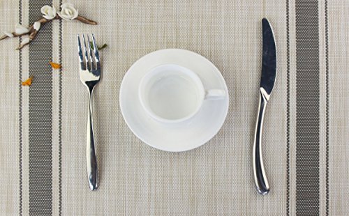 Bright Dream Placemats For Dinner Table Mats Washable Heat Resistand PVC Hard Placemats Set Of 4Gray 0 0