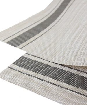 Bright Dream Placemats For Dinner Table Mats Washable Heat Resistand PVC Hard Placemats Set Of 4Gray 0 1 300x360