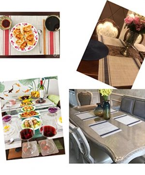 Bright Dream Placemats For Dinner Table Mats Washable Heat Resistand PVC Hard Placemats Set Of 4Gray 0 2 300x360