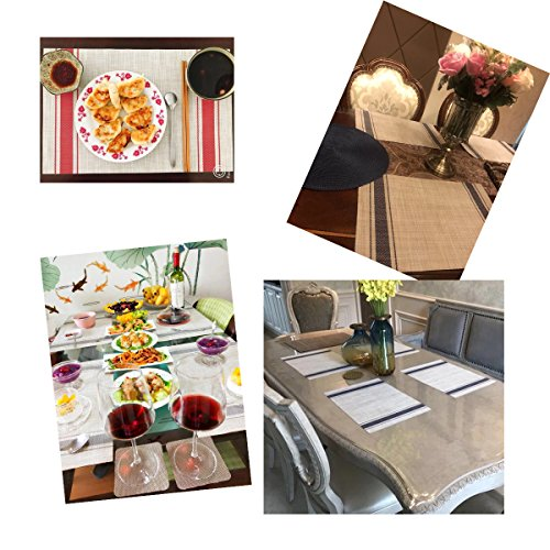 Bright Dream Placemats For Dinner Table Mats Washable Heat Resistand PVC Hard Placemats Set Of 4Gray 0 2