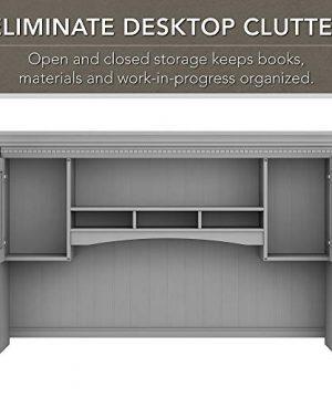Bush Furniture Fairview L Shaped Desk With Hutch And 5 Shelf Bookcase 60W Cape Cod Gray 0 2 300x360