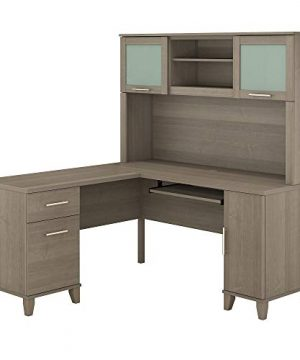 Bush Furniture Somerset L Shaped Desk With Hutch 60W Ash Gray 0 300x360