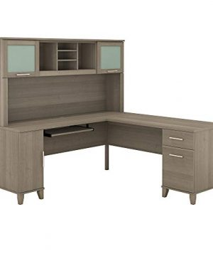 Bush Furniture Somerset L Shaped Desk With Hutch 72W Ash Gray 0 300x360