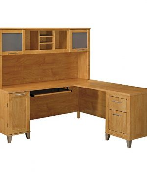 Bush Furniture Somerset L Shaped Desk With Hutch 72W Maple Cross 0 300x360