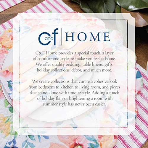 CF Home White Plain Everyday Tabletop Dcor Seasonal Cotton Quilted Round Cotton Reversible Machine Washable Placemat Set Of 6 Round Placemat Set Of 6 White 0 3