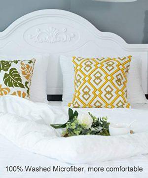 CHOSHOME Twin Duvet Cover Comforter White Bedding Set Farmhouse Seersucker Lightweight Sheets Pillow Corner Ties 3 Pics 0 3 300x360