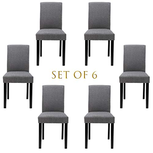 Chairs For Dining Room 6 Mid Century Modern Fabric Upholstered Dining Chairs 0