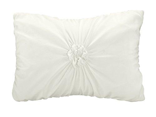 Chic Home 10 Piece Halpert Floral Pinch Pleat Ruffled Designer Embellished Comforter Set Queen White With 4 Piece White Sheet Set 0 1