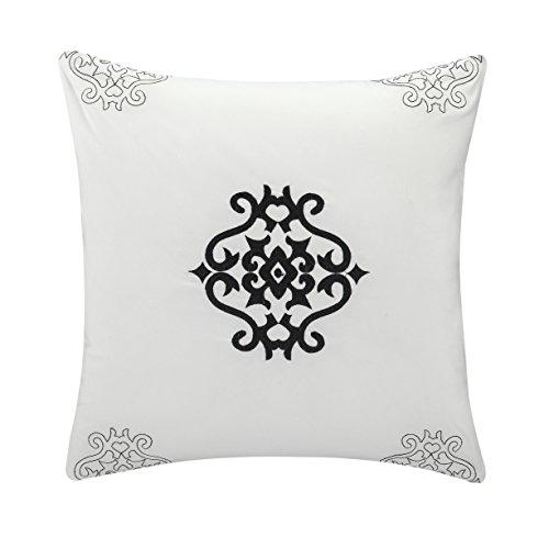 Chic Home 10 Piece Halpert Floral Pinch Pleat Ruffled Designer Embellished Comforter Set Queen White With 4 Piece White Sheet Set 0 3