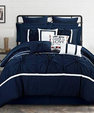 Chic Home Ashville 16 Piece Bed In A Bag Comforter Set King Blue 0 300x360