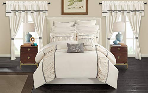 Chic Home Mayan 24 Piece Bed In A Bag Comforter Set King Off White 0