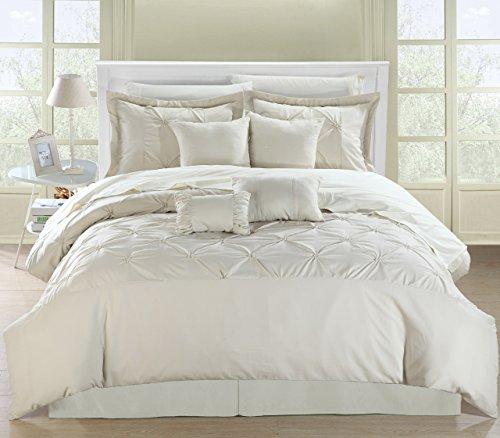 Chic Home Vermont 8 Piece Comforter Set Queen Beige 0