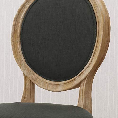 Christopher Knight Home 306409 Reed Upholstered Farmhouse Dining Chairs Black Checkerboard And Dark Gray Set Of 2 0 2