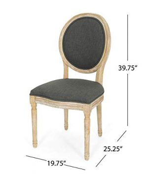Christopher Knight Home 306409 Reed Upholstered Farmhouse Dining Chairs Black Checkerboard And Dark Gray Set Of 2 0 4 300x360