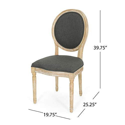 Christopher Knight Home 306409 Reed Upholstered Farmhouse Dining Chairs Black Checkerboard And Dark Gray Set Of 2 0 4