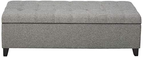 Christopher Knight Home Mission Fabric Storage Ottoman Grey 0 0