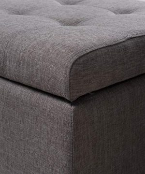 Christopher Knight Home Mission Fabric Storage Ottoman Grey 0 2 300x360