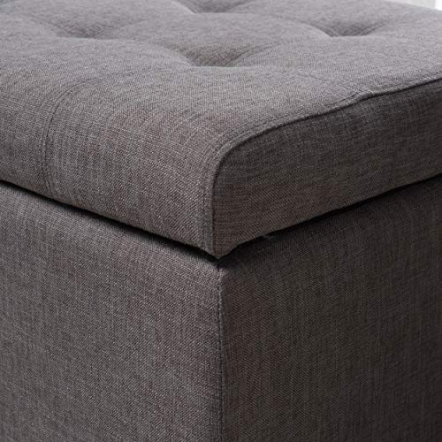 Christopher Knight Home Mission Fabric Storage Ottoman Grey 0 2