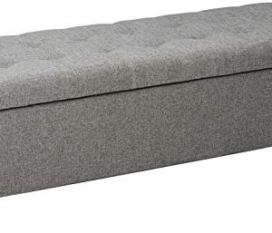 Christopher Knight Home Mission Fabric Storage Ottoman Grey 0 300x257