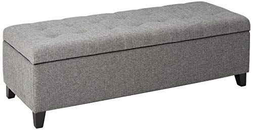 Christopher Knight Home Mission Fabric Storage Ottoman Grey 0