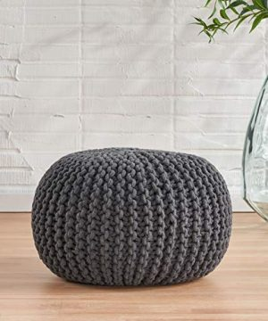 Christopher Knight Home Moro Fabric Pouf Grey 0 0 300x360