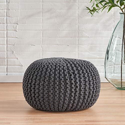 Christopher Knight Home Moro Fabric Pouf Grey 0 0