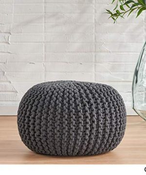 Christopher Knight Home Moro Fabric Pouf Grey 0 1 300x360