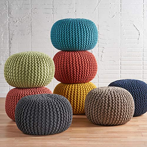 Christopher Knight Home Moro Fabric Pouf Grey 0 2