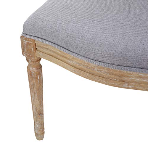 Christopher Knight Home Phinnaeus Fabric Dining Chairs 2 Pcs Set Light Grey 0 2
