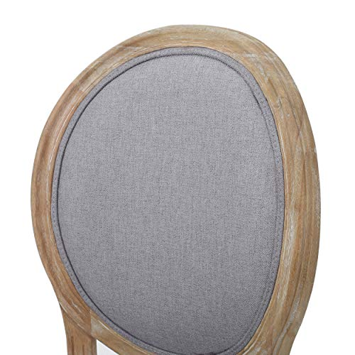 Christopher Knight Home Phinnaeus Fabric Dining Chairs 2 Pcs Set Light Grey 0 3