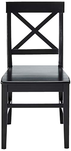 Christopher Knight Home Roshan Farmhouse Acacia Wood Dining Chairs Black 0 0