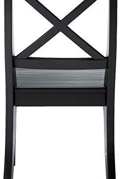 Christopher Knight Home Roshan Farmhouse Acacia Wood Dining Chairs Black 0 1 245x360
