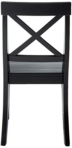 Christopher Knight Home Roshan Farmhouse Acacia Wood Dining Chairs Black 0 1