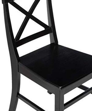Christopher Knight Home Roshan Farmhouse Acacia Wood Dining Chairs Black 0 2 300x360