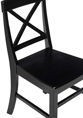 Christopher Knight Home Roshan Farmhouse Acacia Wood Dining Chairs Black 0 2