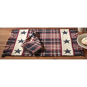 Country House Village Star Placemat Set Of 4 13x19 0
