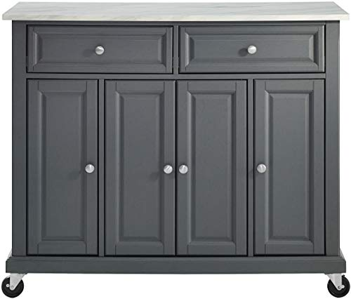 Crosley Furniture Avery Kitchen Island With Paper Marble Top Gray 0 0