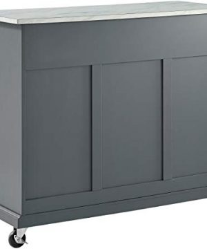 Crosley Furniture Avery Kitchen Island With Paper Marble Top Gray 0 1 300x360