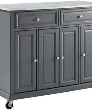 Crosley Furniture Avery Kitchen Island With Paper Marble Top Gray 0 300x360