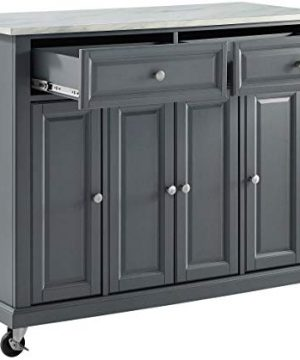 Crosley Furniture Avery Kitchen Island With Paper Marble Top Gray 0 4 300x360