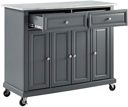Crosley Furniture Avery Kitchen Island With Paper Marble Top Gray 0 4