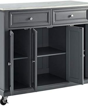 Crosley Furniture Avery Kitchen Island With Paper Marble Top Gray 0 5 300x360