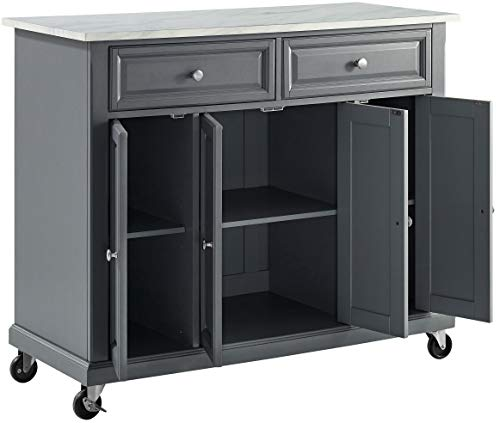 Crosley Furniture Avery Kitchen Island With Paper Marble Top Gray 0 5